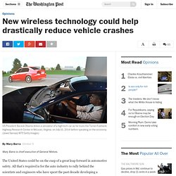 New wireless technology could help drastically reduce vehicle crashes