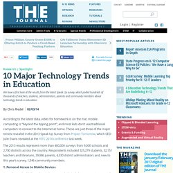 10 Major Technology Trends in Education