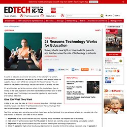 21 Reasons Technology Works for Education