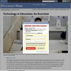 Technology in Education: An Overview