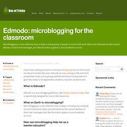 Edmodo: microblogging for the classroom