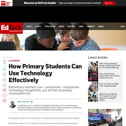 How Primary Students Can Use Technology Effectively