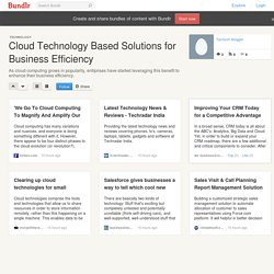 Cloud Technology Based Solutions for Business Efficiency