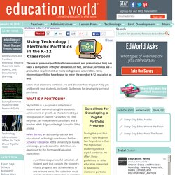 Electronic Portfolios in the K-12 Classroom