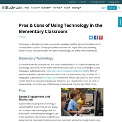 Pros & Cons of Using Technology in the Elementary Classroom