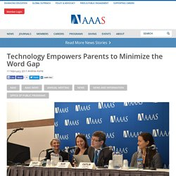 Technology Empowers Parents to Minimize the Word Gap