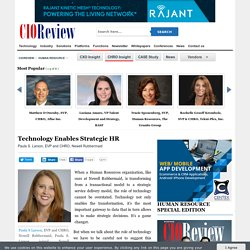 Technology Enables Strategic HR