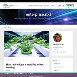 How technology is enabling urban farming