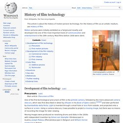 History of film technology