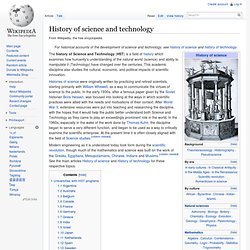 History of science and technology - Wikipedia, the free encyclop
