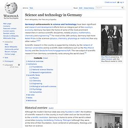 Science and technology in Germany