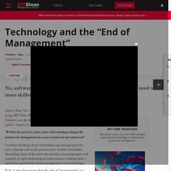 "Technology and the ""End of Management"""