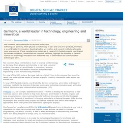 Germany, a world leader in technology, engineering and innovation