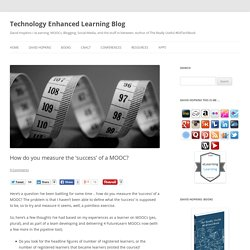 How do you measure the 'success' of a MOOC?