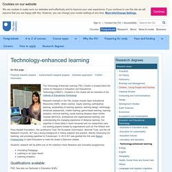 Technology-enhanced learning - Research Degrees