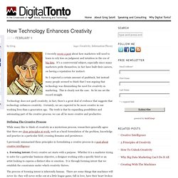 How Technology Enhances Creativity