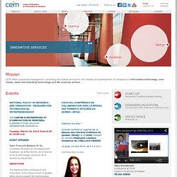 Technology Startups in Montreal - CEIM helps entrepreneurs to start their company