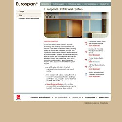 Wall Technology's Eurospan® Stretch Wall System: Key Features