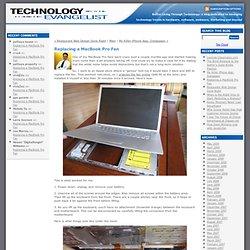 Replacing a MacBook Pro Fan