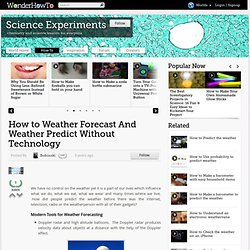 Weather Predict Without Technology