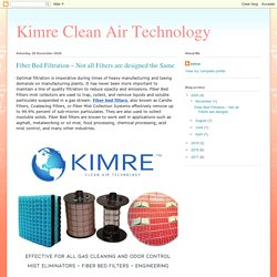 Kimre Clean Air Technology: Fiber Bed Filtration – Not all Filters are designed the Same
