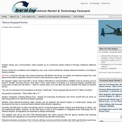 Telecom-Equipped Drones - Market Info Group - Premium Market & Technology ForecastsMarket Info Group