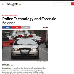 Police Technology - Forensic Science History