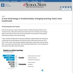 A new technology is fundamentally changing learning
