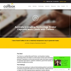 Australia's Leading Technology Broker Captures More Leads with Callbox - B2B Lead Generation Company Malaysia