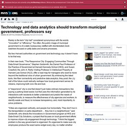 Technology and data analytics should transform municipal government, professors say