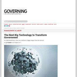 The Next Big Technology to Transform Government