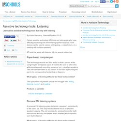 Listening - Assistive Technology
