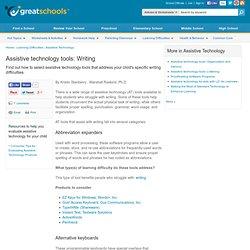 Writing - Assistive Technology