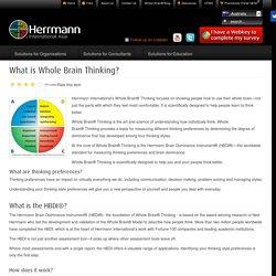 What is Whole Brain Technology - Herrmann Australia