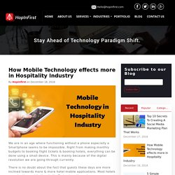 How Mobile Technology effects more in Hospitality Industry - Hopinfirst