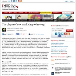 The plague of new marketing technology