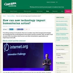 How can new technology impact humanitarian action?