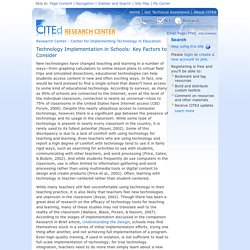 Technology Implementation in Schools: Key Factors to Consider