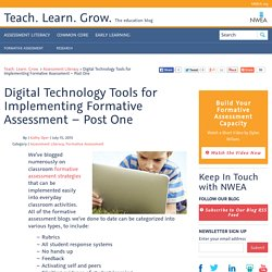 Digital Technology Tools for Implementing Formative Assessment – Post One