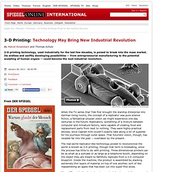 3D Printing Technology Poised for New Industrial Revolution