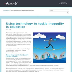 Using technology to tackle inequality in education - ResourcEd