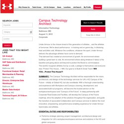 _Campus Technology Architect Information Technology Baltimore, MD