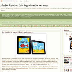 iDevices in the Special Education Classroom