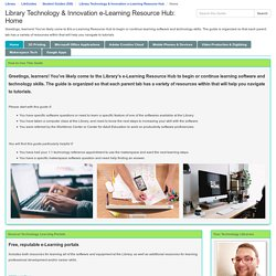 Library Technology & Innovation e-Learning Resource Hub (Erik)