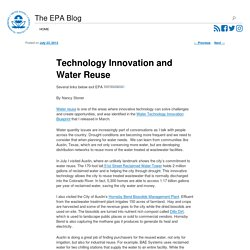 Technology Innovation and Water Reuse – Our Planet, Our Home
