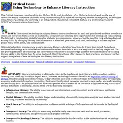 Critical Issue: Using Technology to Enhance Literacy Instruction