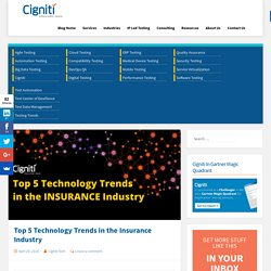 Top 5 Technology Trends in the Insurance Industry - Software Testing Blog