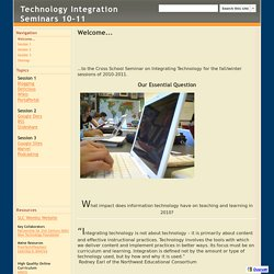 Technology Integration Seminars 10-11