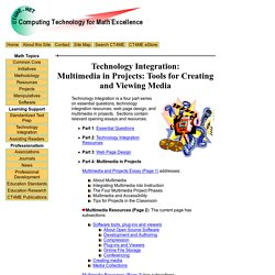 Technology Integration: Multimedia in Projects: Tools for Creating and Viewing Media