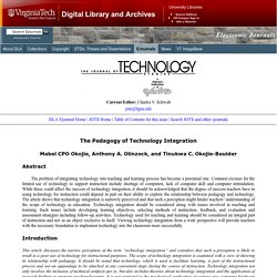 JOTS v32n2 - The Pedagogy of Technology Integration